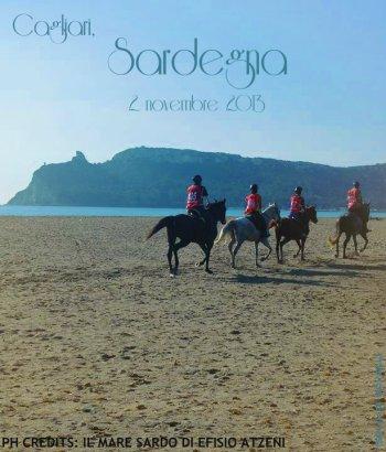 Cagliari, cavalli al mare